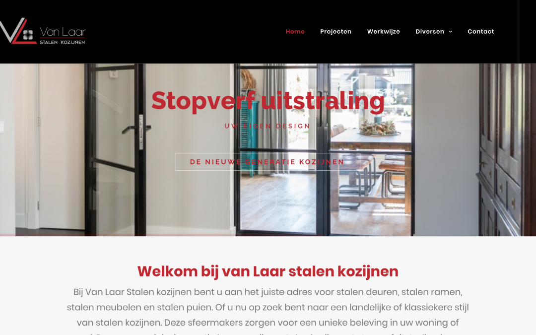 Huisstijl en Website van Laar Stalen Kozijnen
